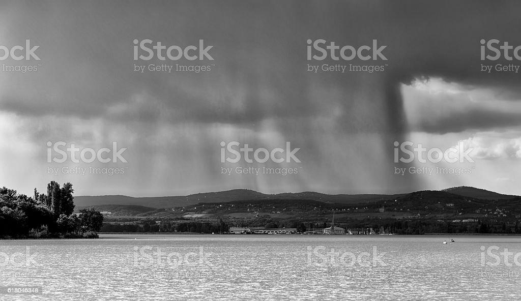 View of lake Balaton stock photo