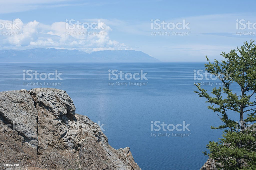 View of lake Baykal from cape Khoboy royalty-free stock photo