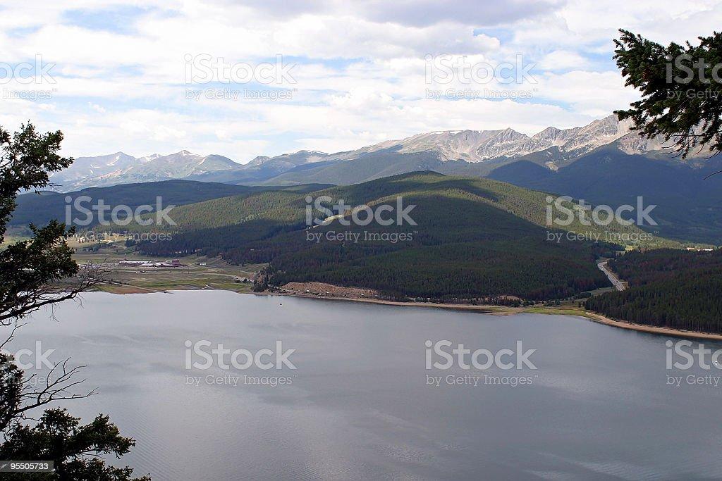 View of Lake Dillon stock photo