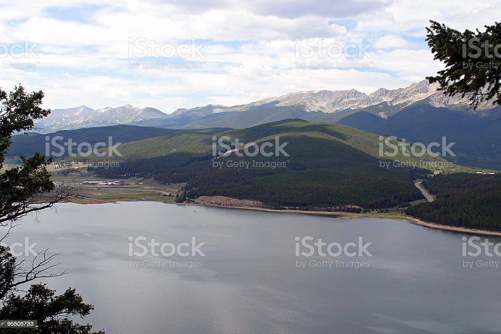 View of Lake Dillon stock photo