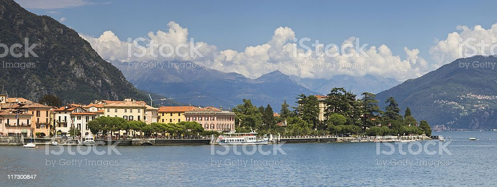 View of lake district with mountains in background royalty-free stock photo