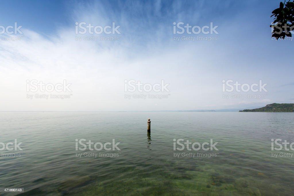 View of Lake Garda in Italy royalty-free stock photo