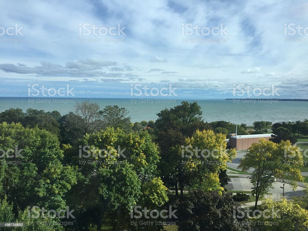 View of Lake Michigan stock photo
