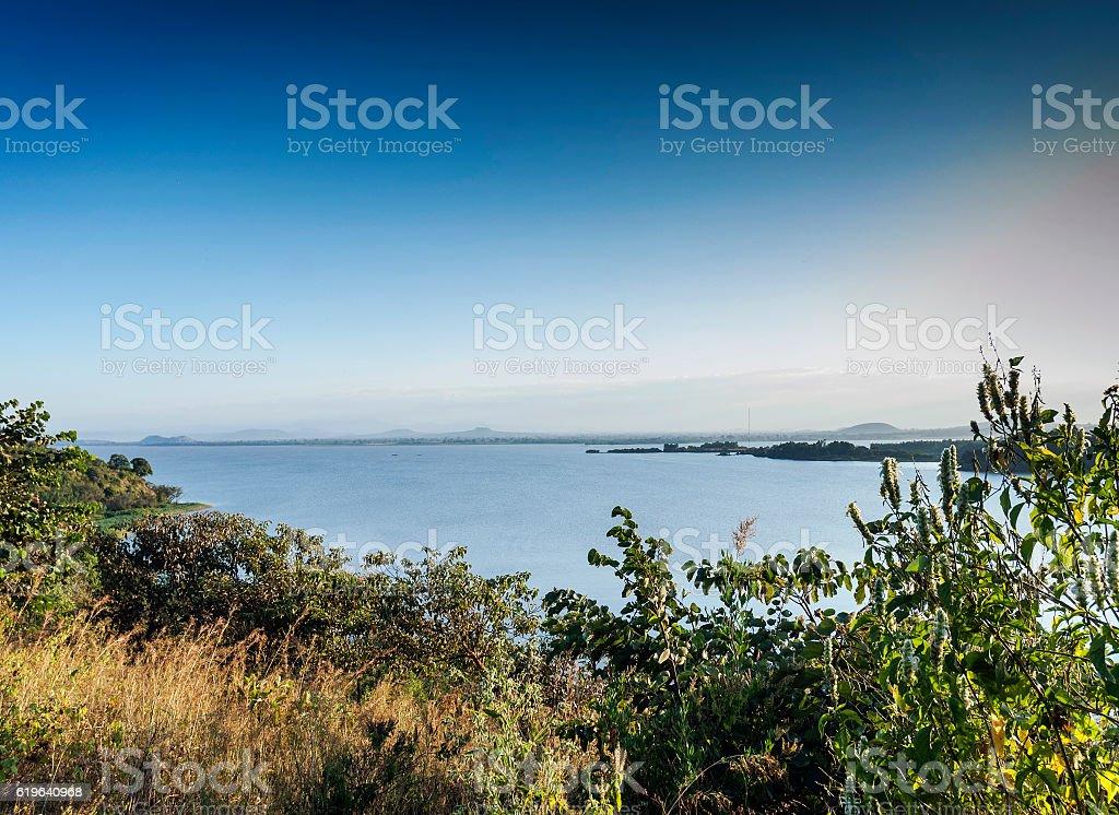 view of lake tana near bahir dar ethiopia stock photo