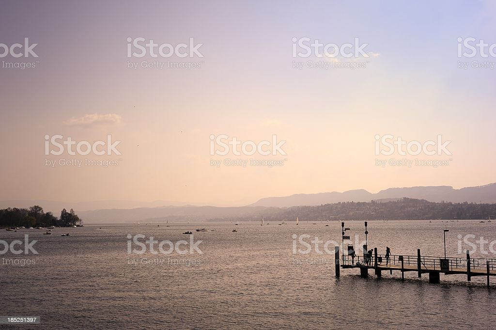 View of Lake Zurich stock photo