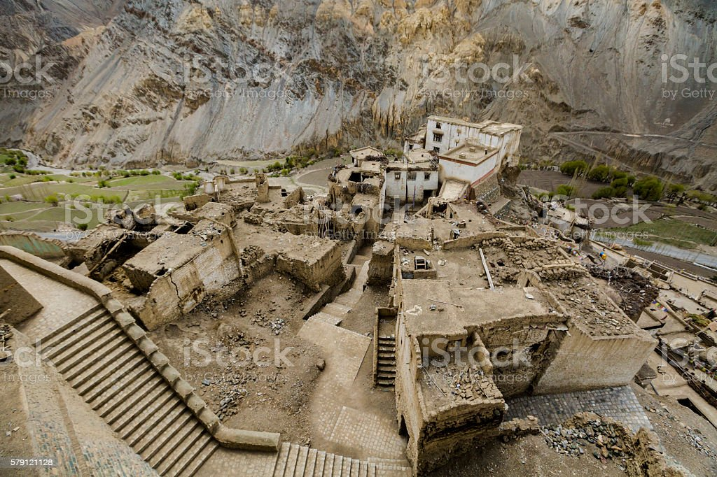view of Lamayuru monastery in Ladakh, India. stock photo