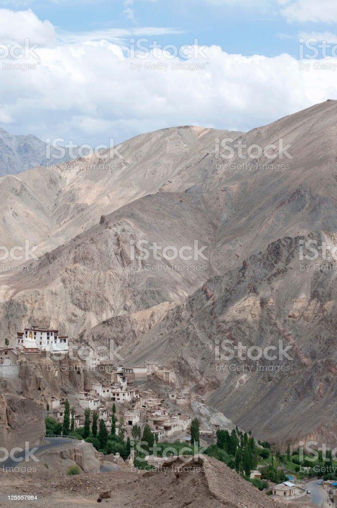 View of Lamayuru Monastery Northern India royalty-free stock photo