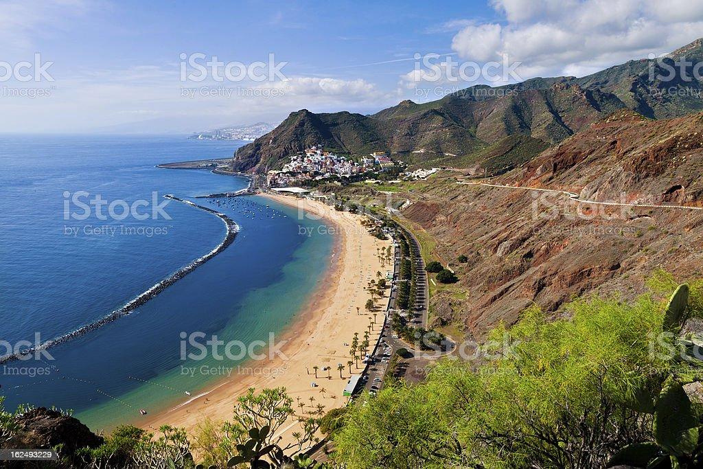 View of Las Teresitas Beach, in Tenerife, Spain stock photo