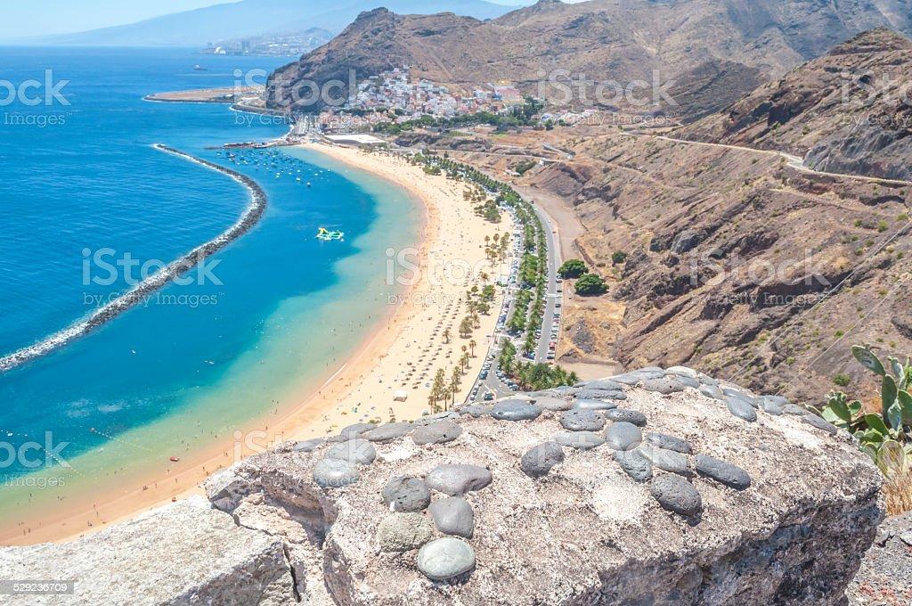 View of Las Teresitas Beach, Tenerife, Spain stock photo