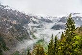 view of Lauterbrunnen from murren - Switzerland