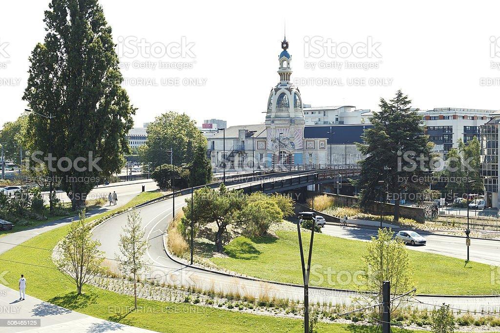 view of Le Lieu Unique building in Nantes stock photo