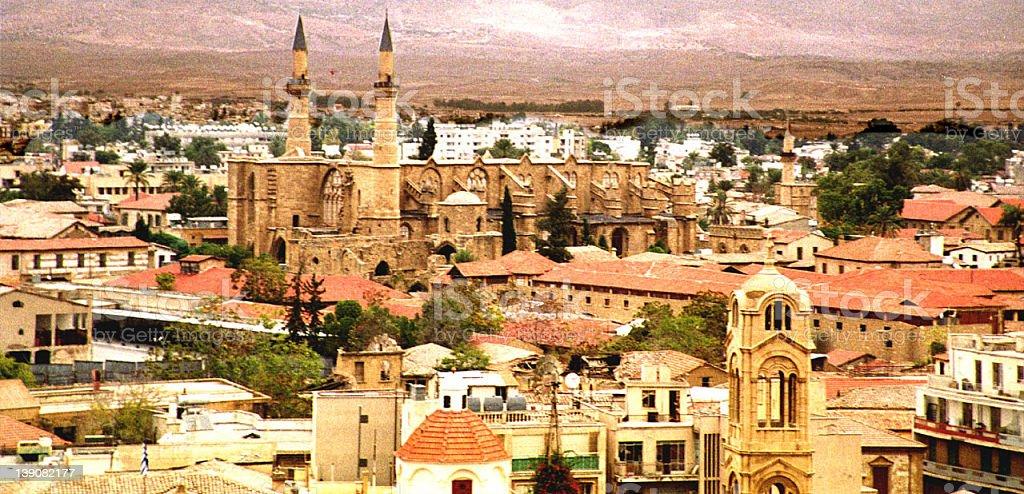 view of Lefkosia, Cyprus stock photo