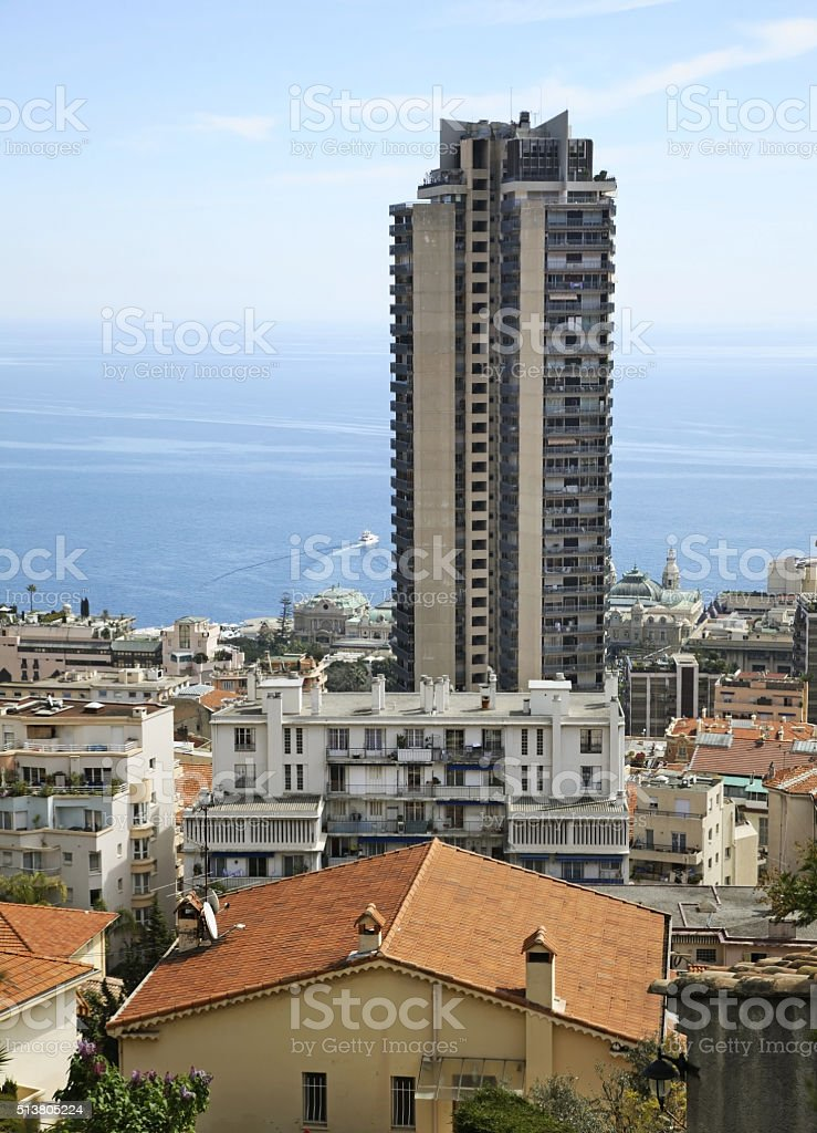 View of Les Moneghetti district. Principality of Monaco stock photo