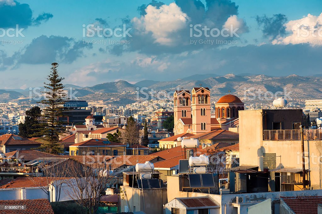 View of Limassol old town. Cyprus stock photo