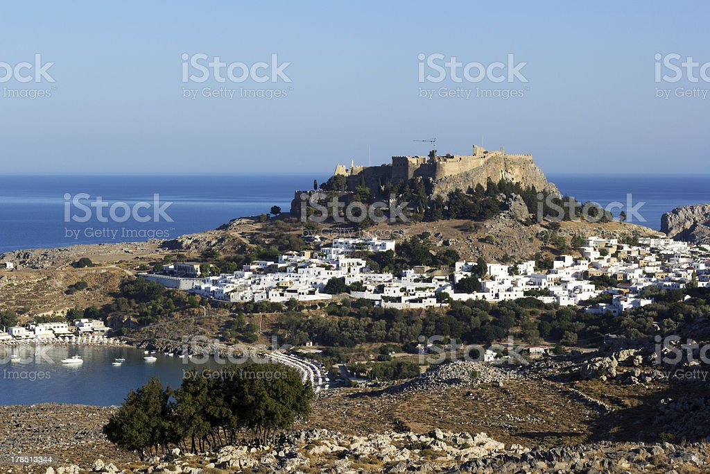 View of Lindos City royalty-free stock photo