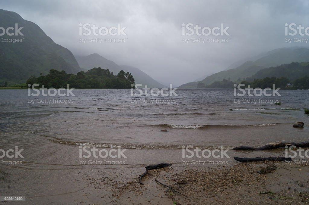 View of Loch Shiel stock photo