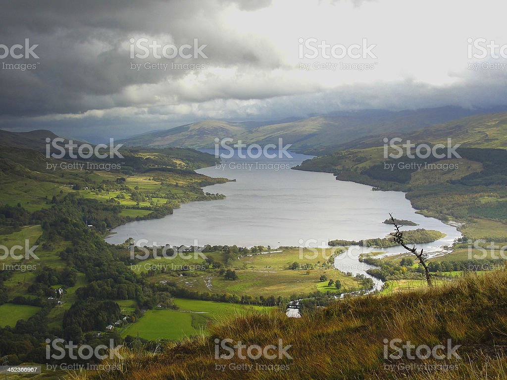 View of Loch Tay (Scotland) stock photo