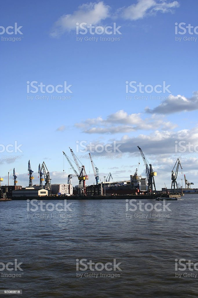 View of logistics at the harbour - serie royalty-free stock photo