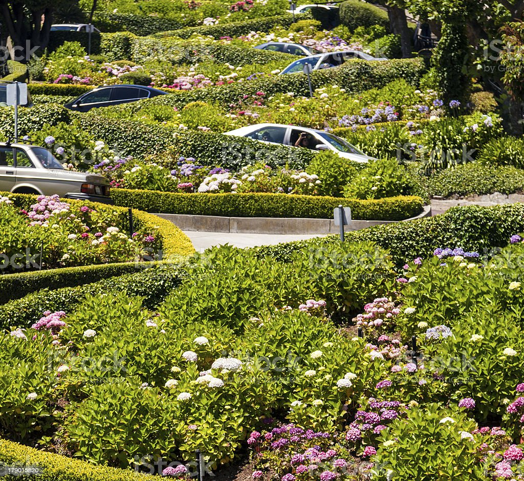 View of Lombard Street stock photo