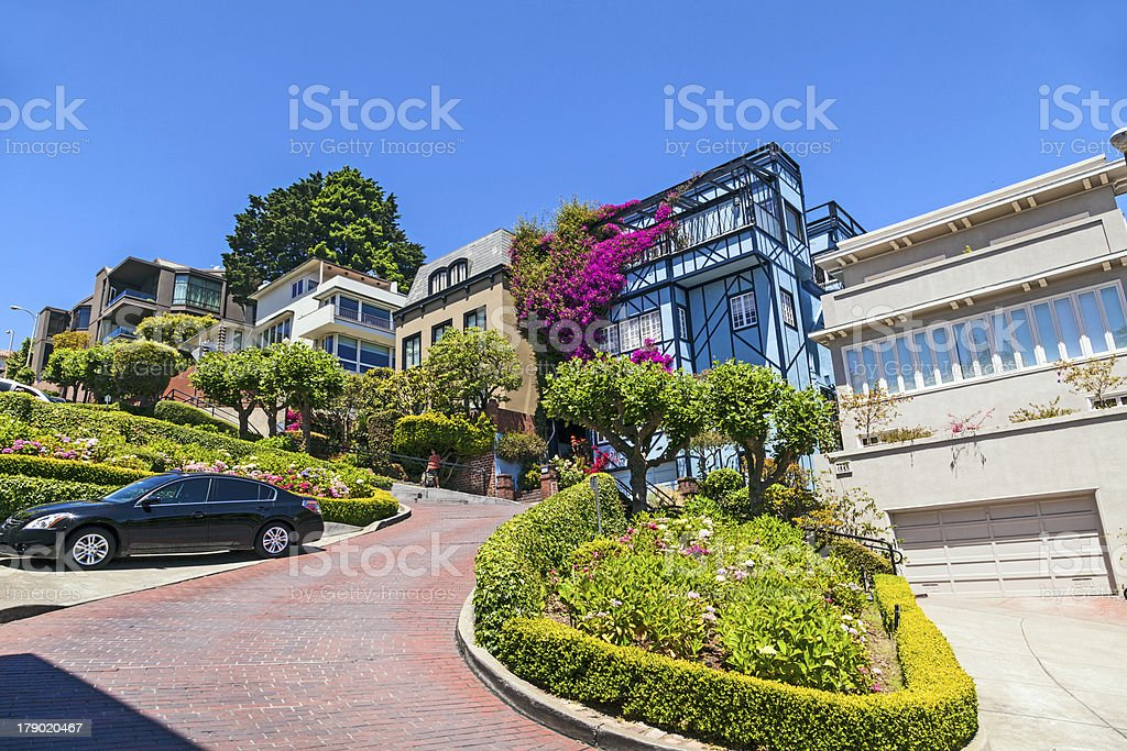 View of Lombard Street royalty-free stock photo
