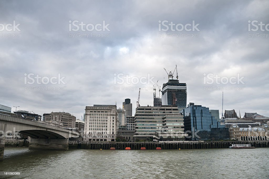 View Of London From Across The Thames River royalty-free stock photo