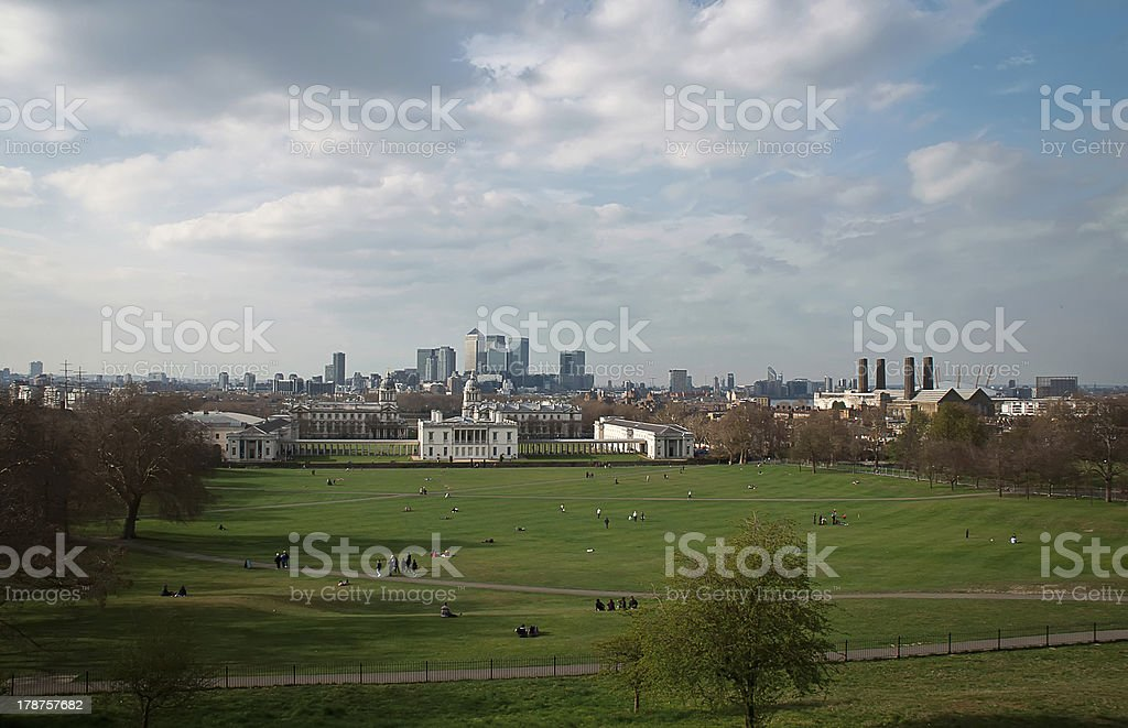 View of london from greenwich . royalty-free stock photo