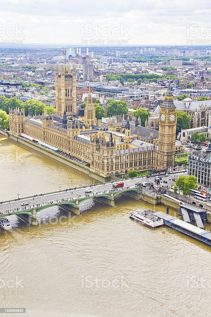 View of London, UK royalty-free stock photo