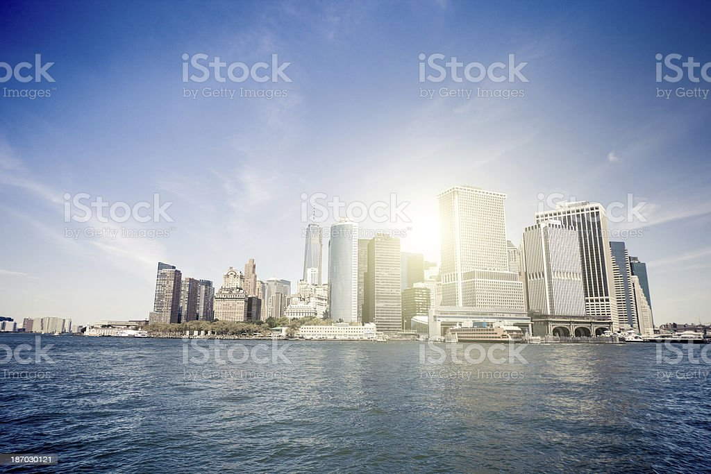 View of Lower Manhattan stock photo