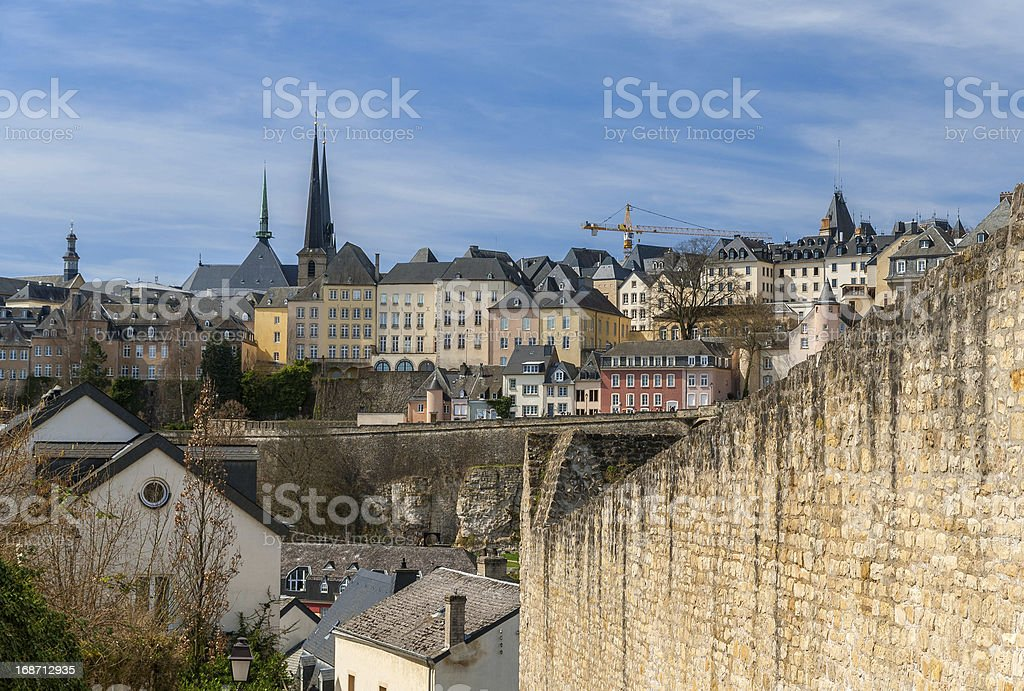 View of Luxembourg city royalty-free stock photo
