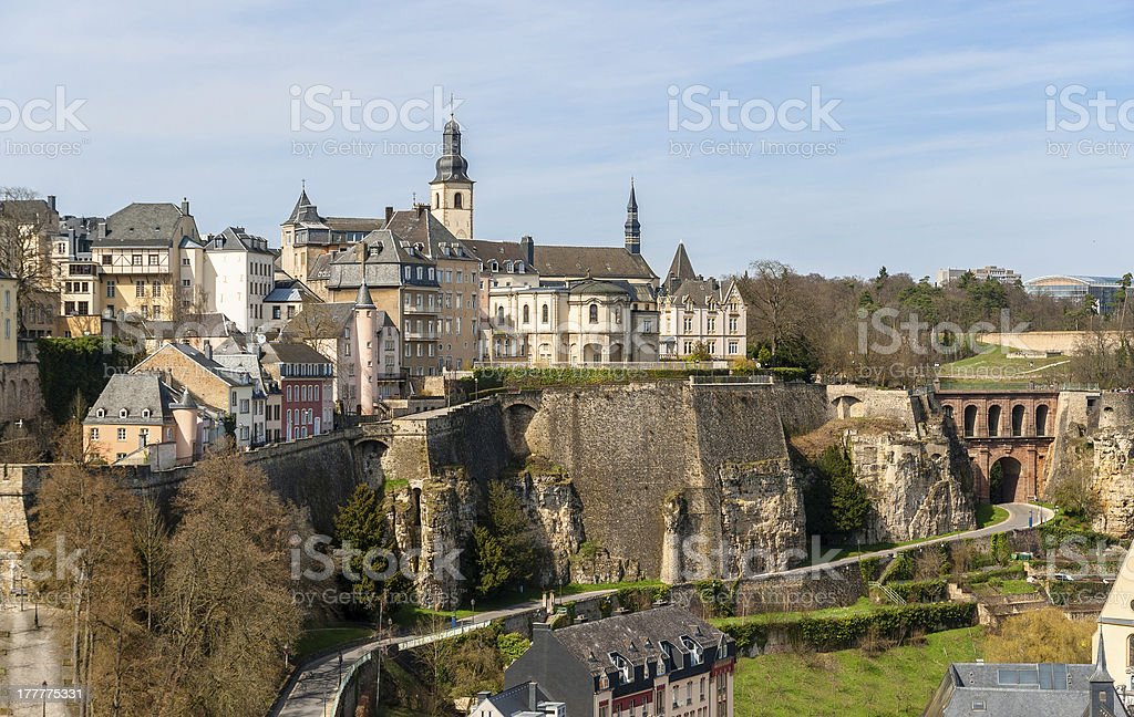 View of Luxembourg old town stock photo