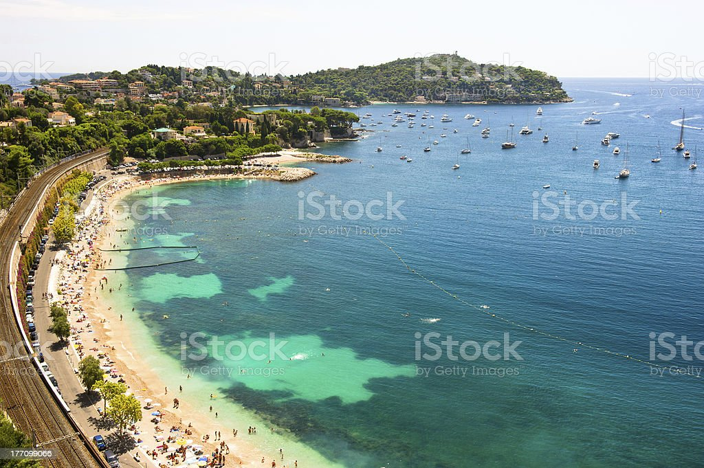 view of luxury resort and bay, Villefranche royalty-free stock photo