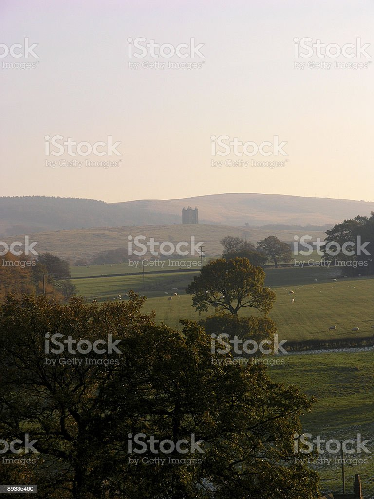 View of Lyme Cage stock photo