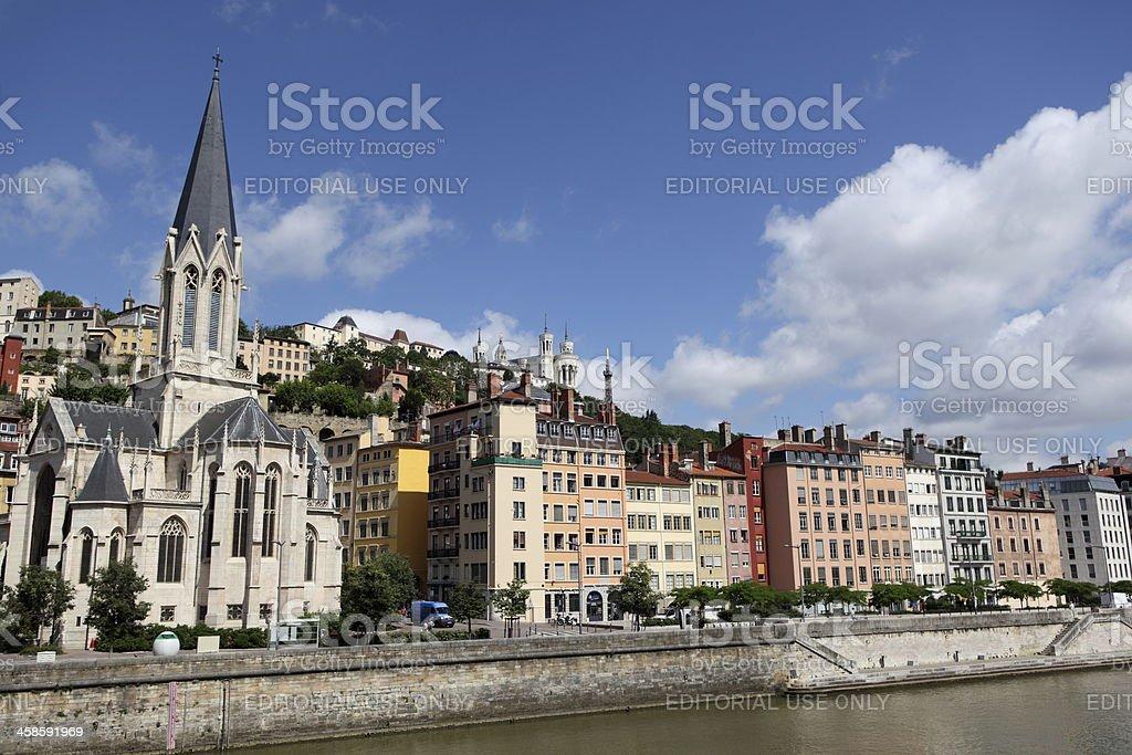 View of Lyon, France stock photo