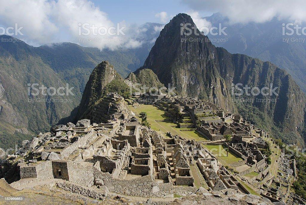 View of Machu Picchu stock photo