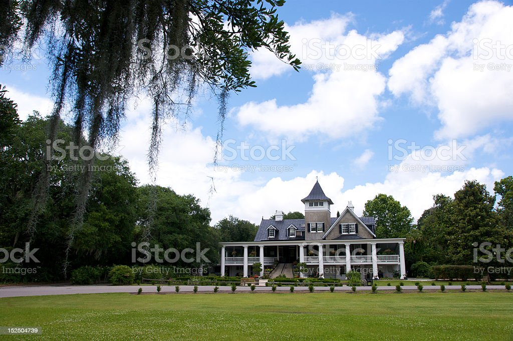 A view of Magnolia Plantation in South Carolina stock photo