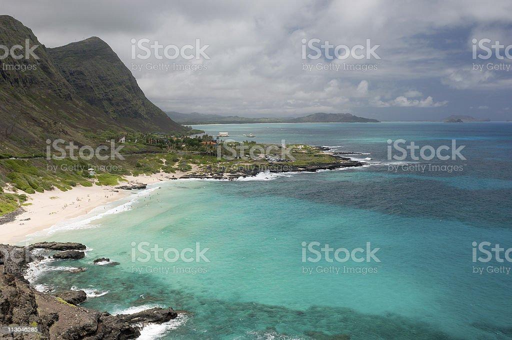 View of Makapuu Beach, Oahu, Hawaii royalty-free stock photo