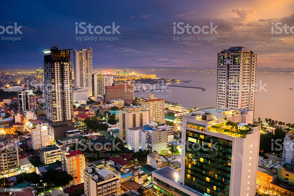 View of Malate in Metro Manila, Philippines stock photo
