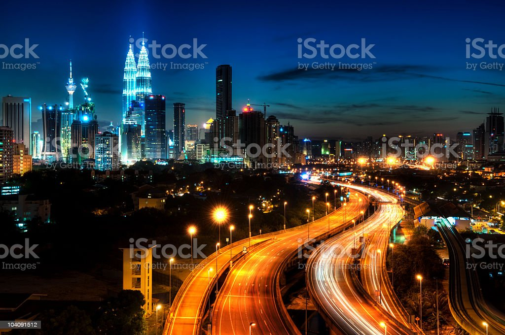 View of Malaysia's capital Kuala Lumpur royalty-free stock photo
