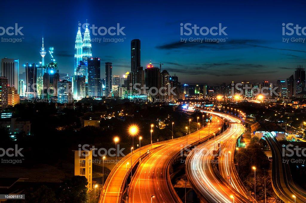 View of Malaysia's capital Kuala Lumpur stock photo