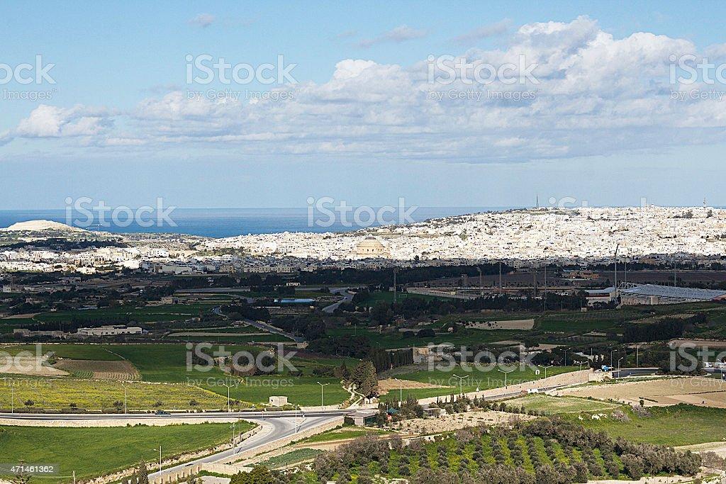 Vista di Malta di Mdina foto stock royalty-free