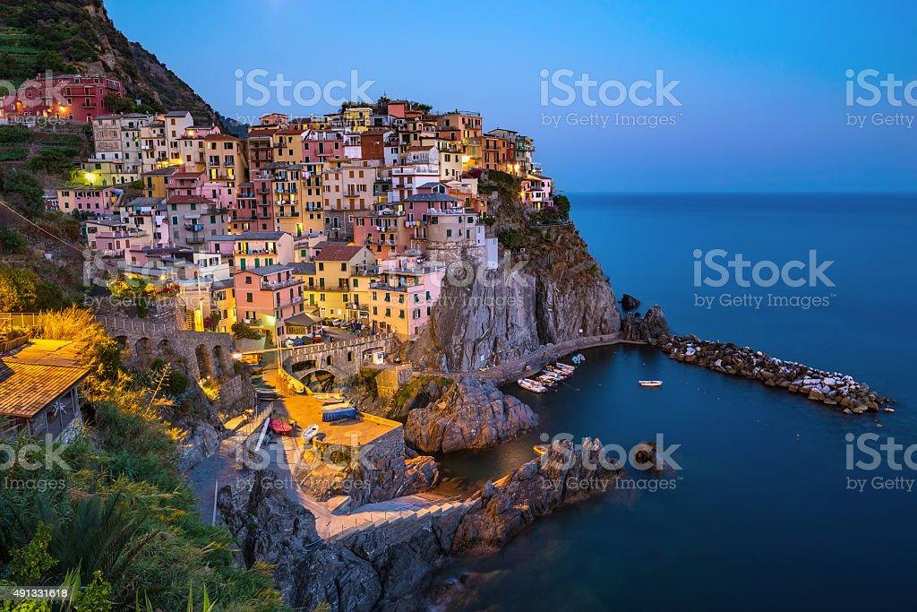 View of Manarola village - Cinque Terre - Italy stock photo