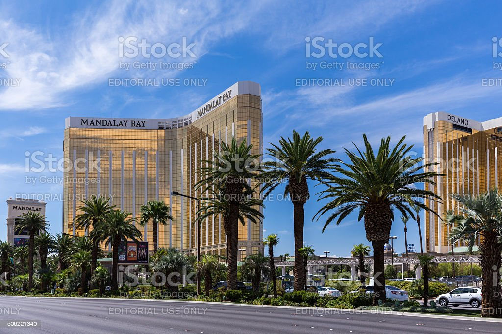 View of Mandalay Bay Resort and Casino hotel, Las Vegas stock photo