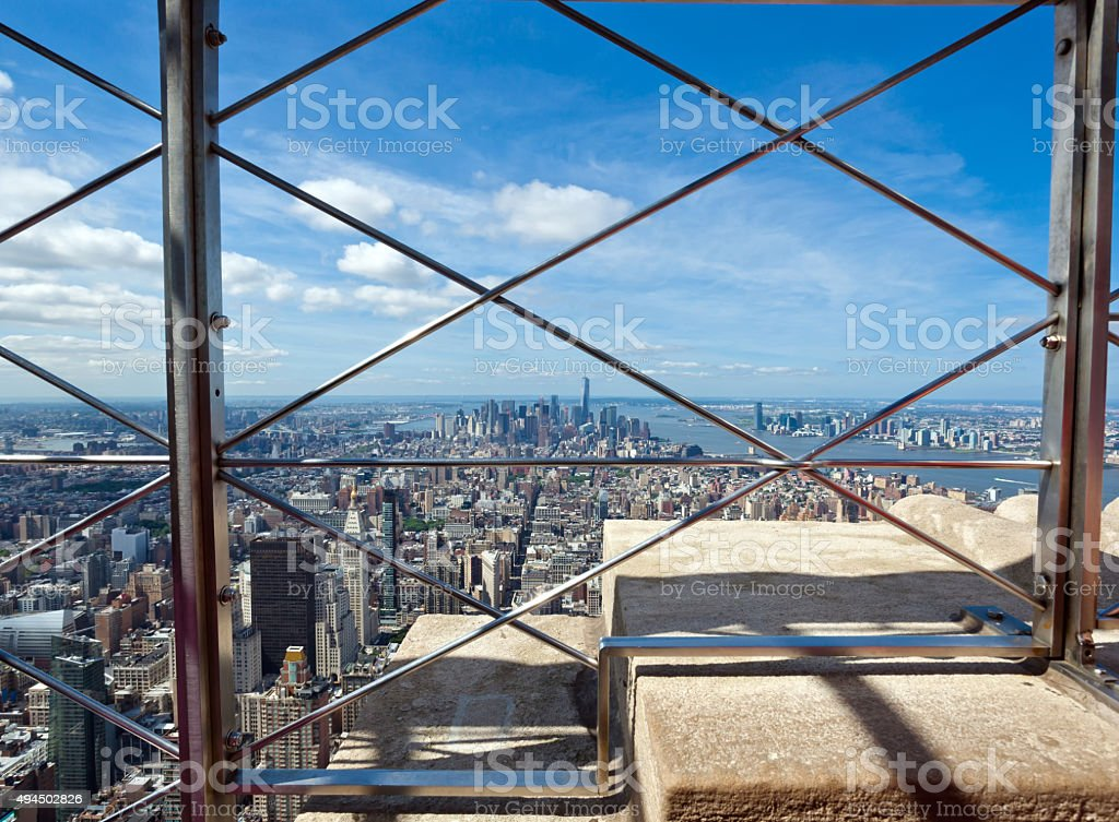 View of Manhattan from the Empire State Building stock photo