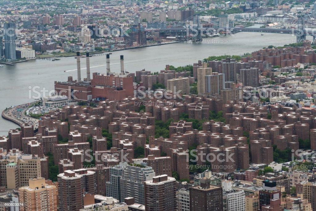 View of Manhattan - New York - 2017 stock photo