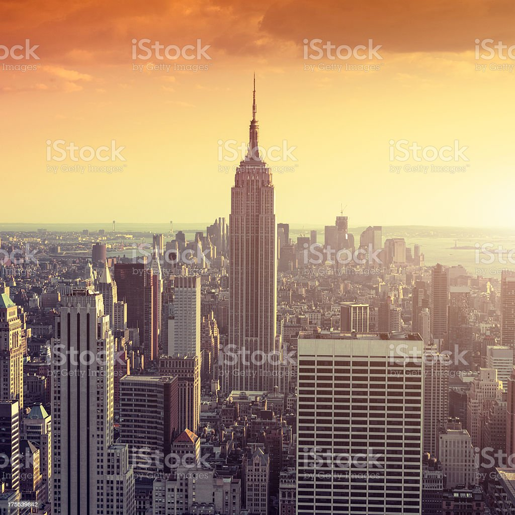 View of Manhattan skyline royalty-free stock photo