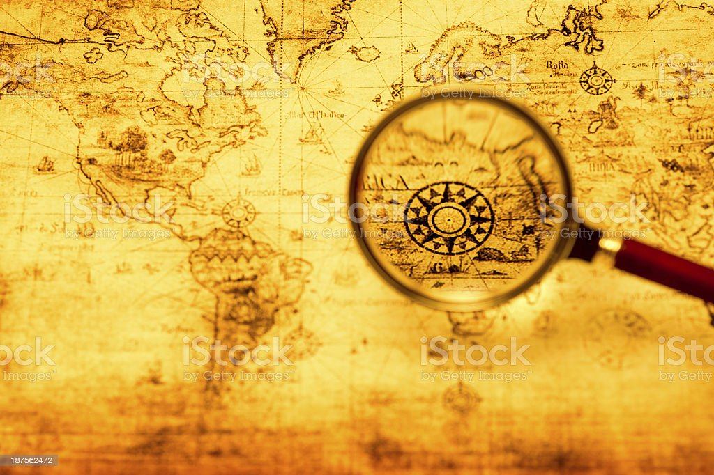 View of Map Through Glass royalty-free stock photo