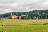 view of Mariahof church, Austria