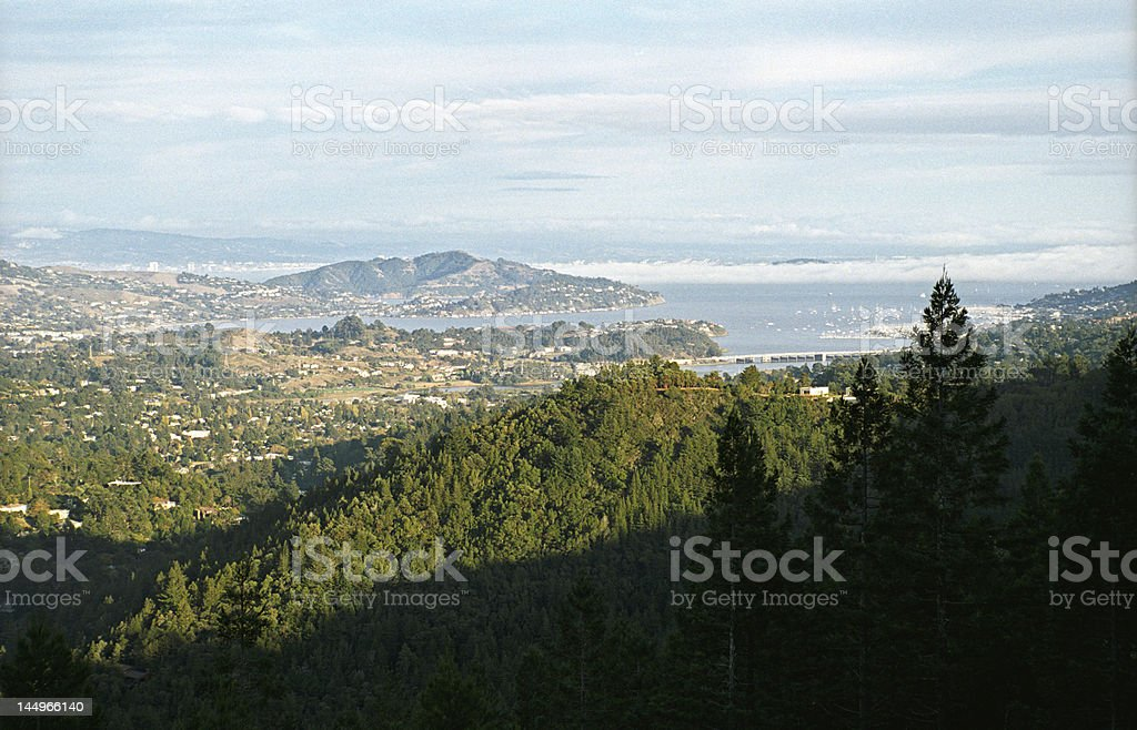 View of Marin County stock photo