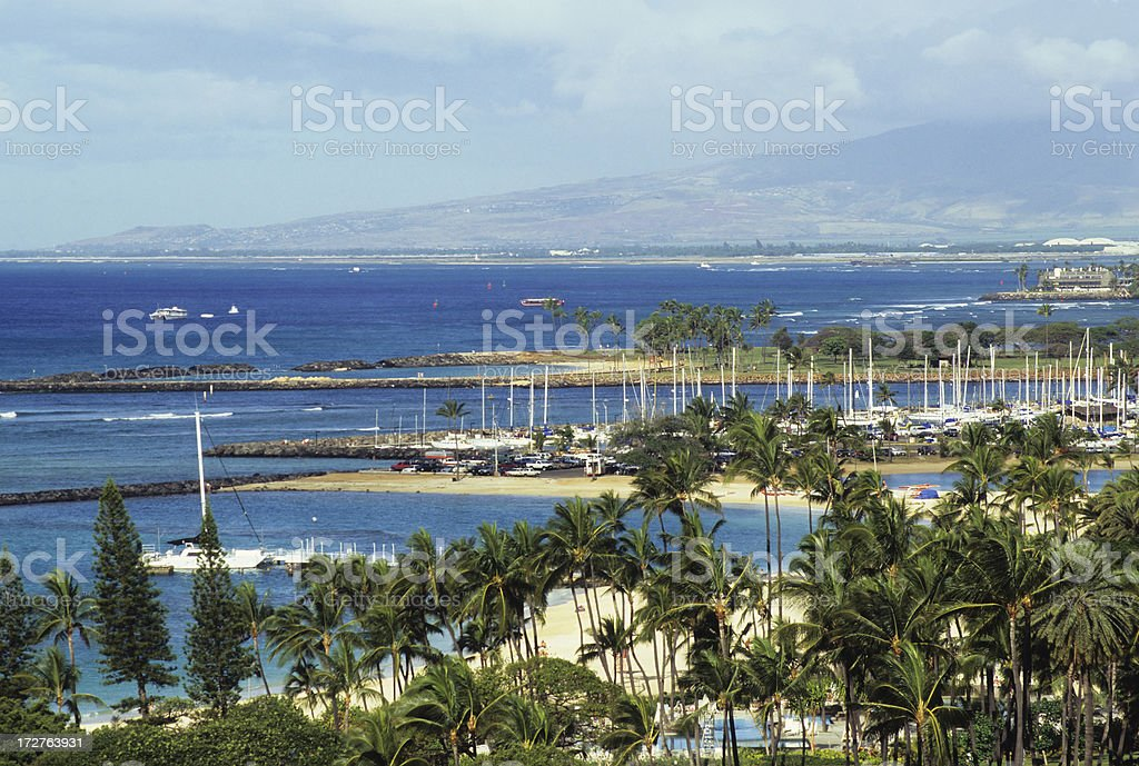 View Of Marina stock photo