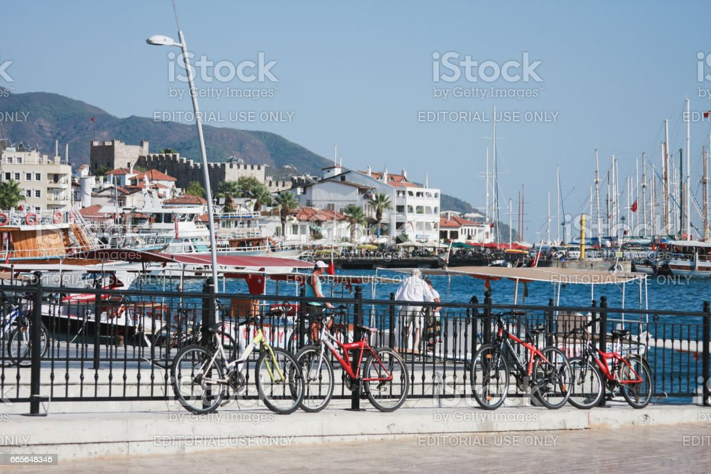 View of Marmaris Turkey stock photo